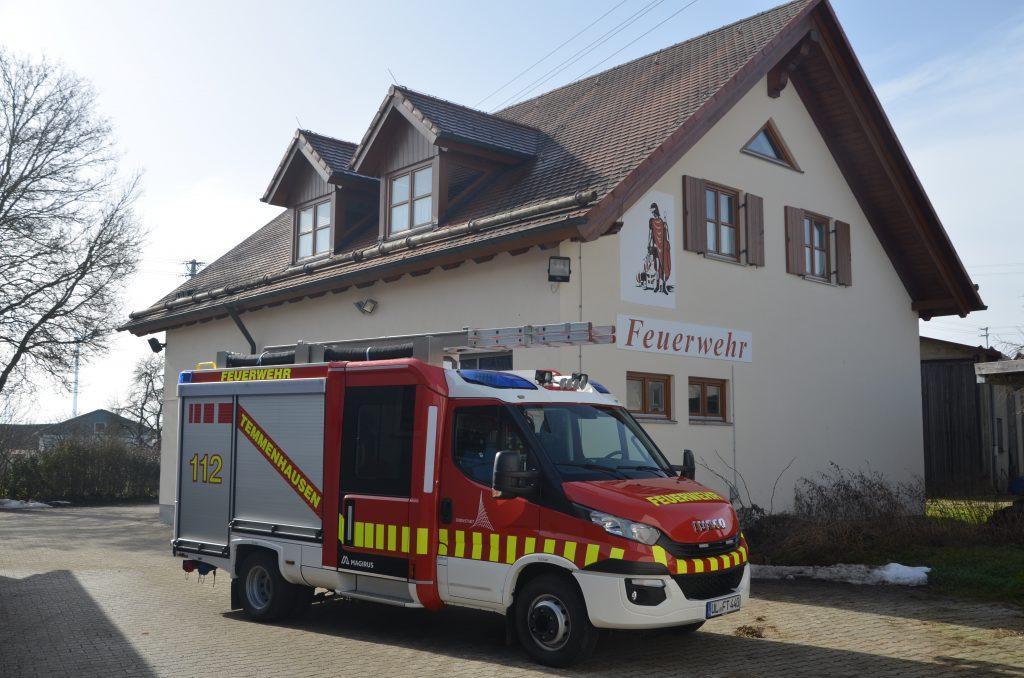 Das Feuerwehrgerätehaus in Temmenhausen.